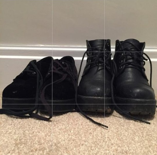 shoes boots black black boots tumblr grunge grunge shoes pale grunge black boots pale gru leather vans