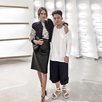 coat brand skirt jacket sandals alexa chung blouse