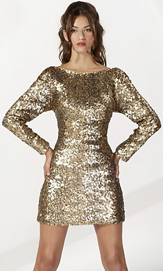 Sleeve Sequin Dress by Jovani