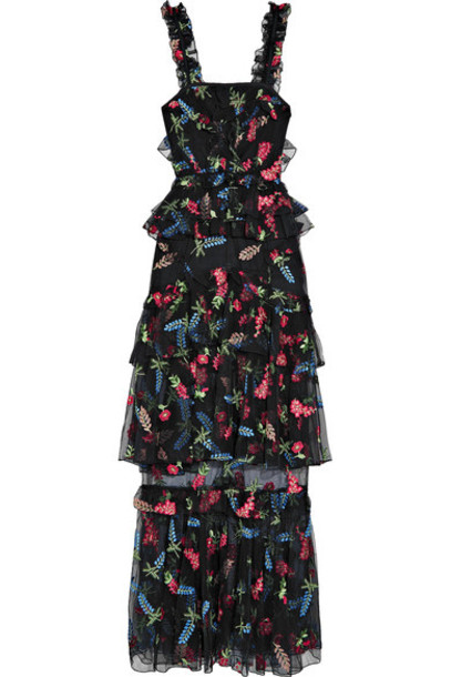 Alice McCall dress maxi dress maxi embroidered black