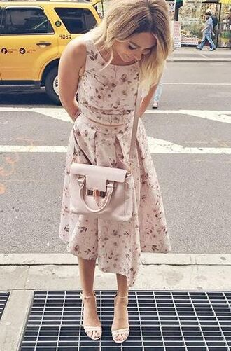 midi skirt lauren conrad summer outfits two piece dress set two-piece floral flowers floral midi skirt