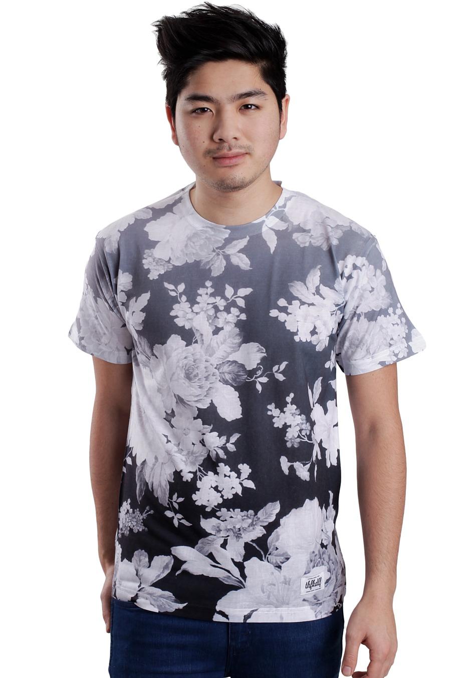 THFKDLF - Black & White Floral - T-Shirt - Streetwear boutique en ligne - Impericon France