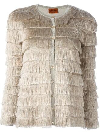 cardigan metallic nude sweater