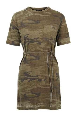dress camouflage t-shirt dress