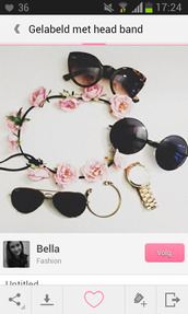 hat,hair accessory,sunglasses,watch,jewels,flowers headbands,leopard print