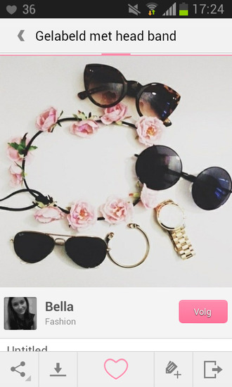 hair accessory sunglasses watch jewels flowers headbands