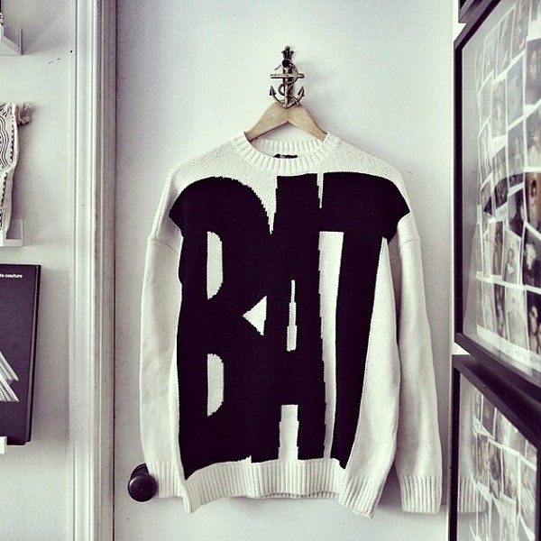 sweater clothes black white quote on it forever 21