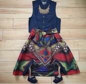 skirt,african print