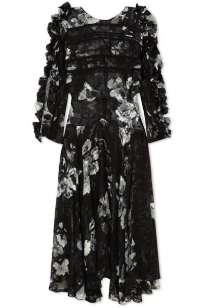 PREEN BY THORNTON BREGAZZI dress midi dress midi black silk satin