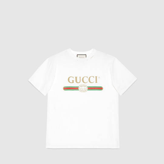 daa643716a3b Gucci - Gucci print cotton t-shirt