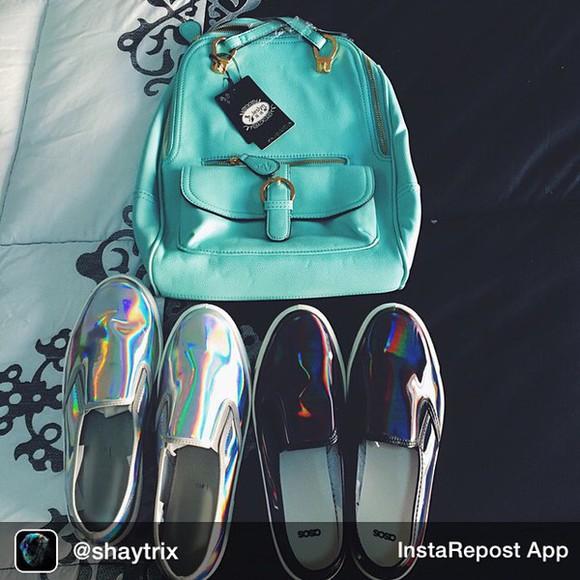 metallic shoes silver shoes slipon