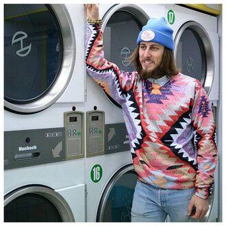 sweater printed sweater navajo sweater jumper navajo sweatshirt navajo print sweatshirt all over print sweatshirt full print sweatshirt ornament ornament print ornament print sweater ornament print sweatshirt fusion navajo pullover