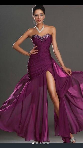 dress cheap wine purple chiffon formal dress formal dress prom dress purple purple dress chiffon dress