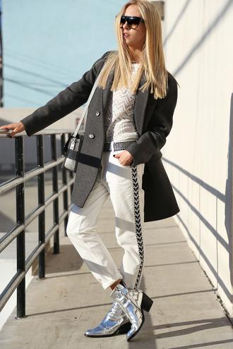 t-shirt pants coat shoes bag sunglasses cheyenne meets chanel