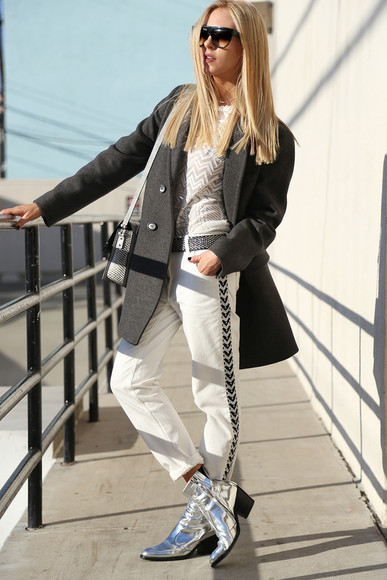 cheyenne meets chanel pants shoes sunglasses t-shirt bag coat