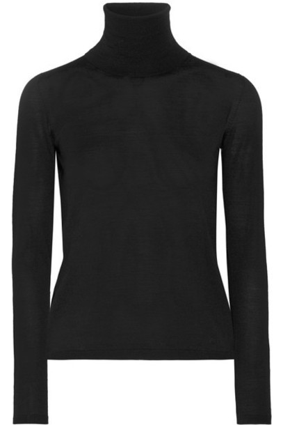 Max Mara sweater turtleneck turtleneck sweater black wool