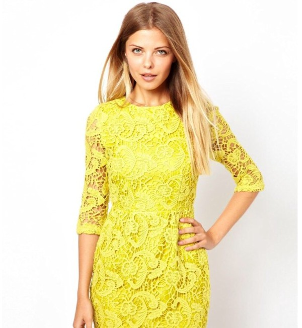 yellow dress yellow dress crochet crochet lace dress