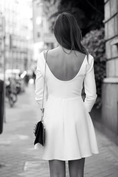 long sleeve dress white dress classic white