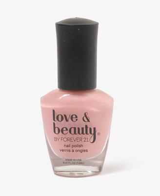Baby pink nail polish