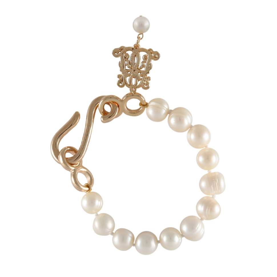 BOWERHAUS | Bowerhaus Pearl Fleur Bracelet – 10MM Ringed Freshwater Pearl