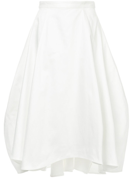 Maggie Marilyn skirt tulip skirt women white cotton