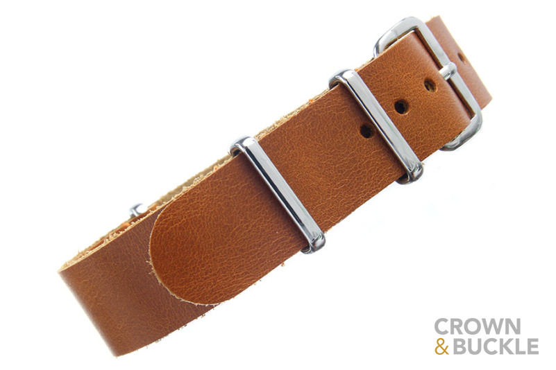 Saddle Leather NATO - 18mm - Leather NATOs - Type - Crown and Buckle