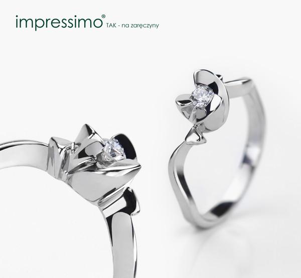 jewels gold white gold impressimo impressimo.pl pierścionki zaręczynowe engagement ring diamonds diamond ring