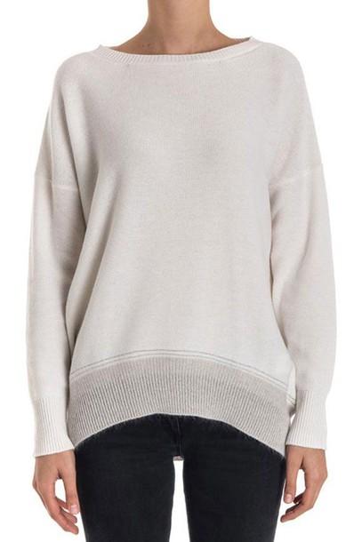 Fabiana Filippi pullover silk wool white sweater