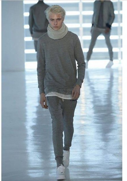 jumpsuit lucky blue smith lucky blouse pants scarf shirt blonde hair fashion week 2015