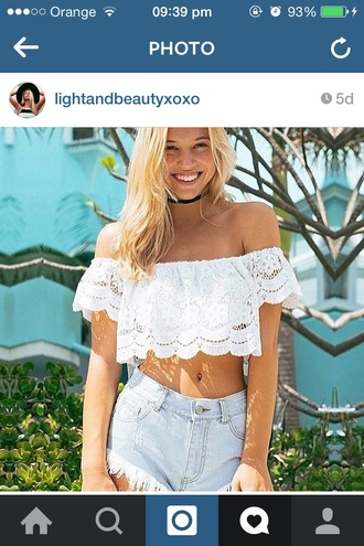 blouse white blouse summer blouse white crop tops