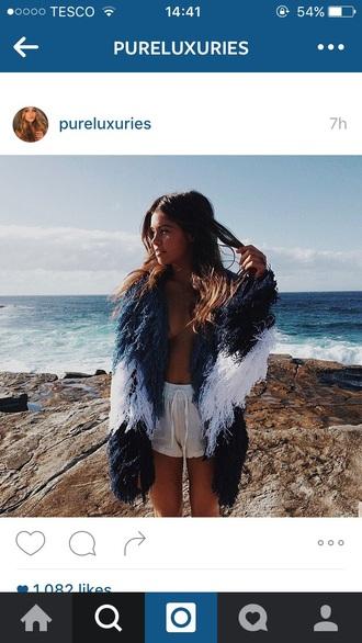 shorts holidays hot summer beach outfit fur