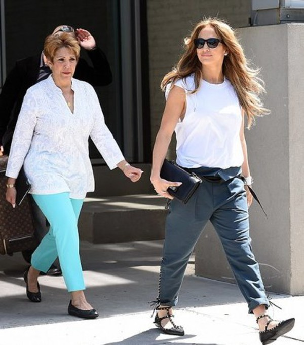 top jennifer lopez shoes bag pants