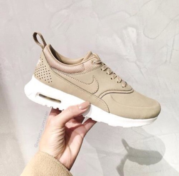 shoes nike camel tan beige nike shoes sneakers nike sneakers nude sneakers  low top sneakers air 646919816