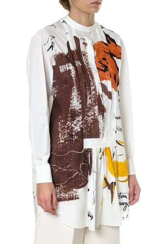 blouse oversized cotton beige top