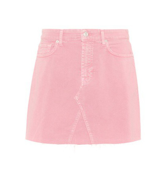 7 For All Mankind skirt denim skirt denim pink