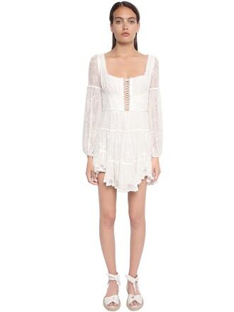 dress corset dress chiffon embroidered
