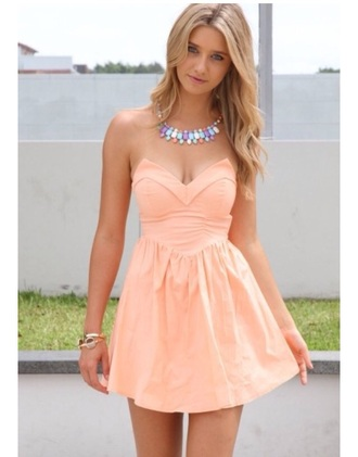 dress pink strapless dress cute got gorgeous re pretty sweetheart neckline flowy