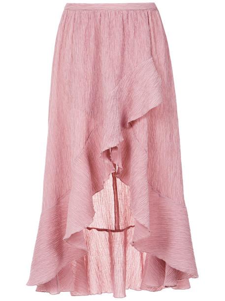 Olympiah skirt midi skirt ruffle women midi spandex purple pink