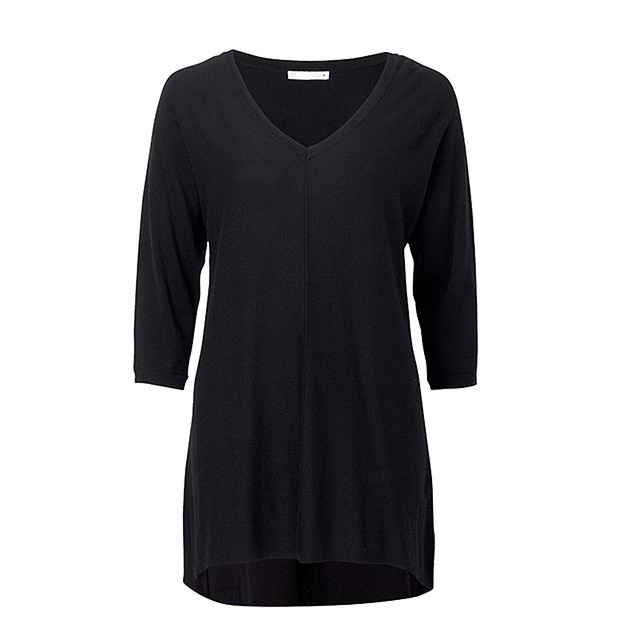 Relaxed Knit Tunic - Black | Target Australia