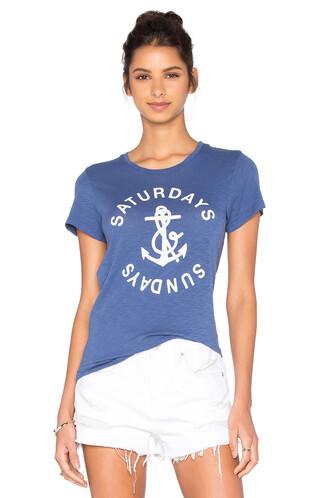 anchor blue top