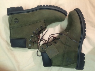timberlands shoes army green