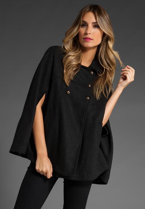 Brandy Amp Melville Cape Jacket In Black At Revolve Clothing