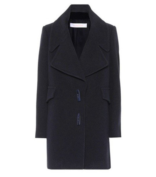 See by Chloe coat wool blue