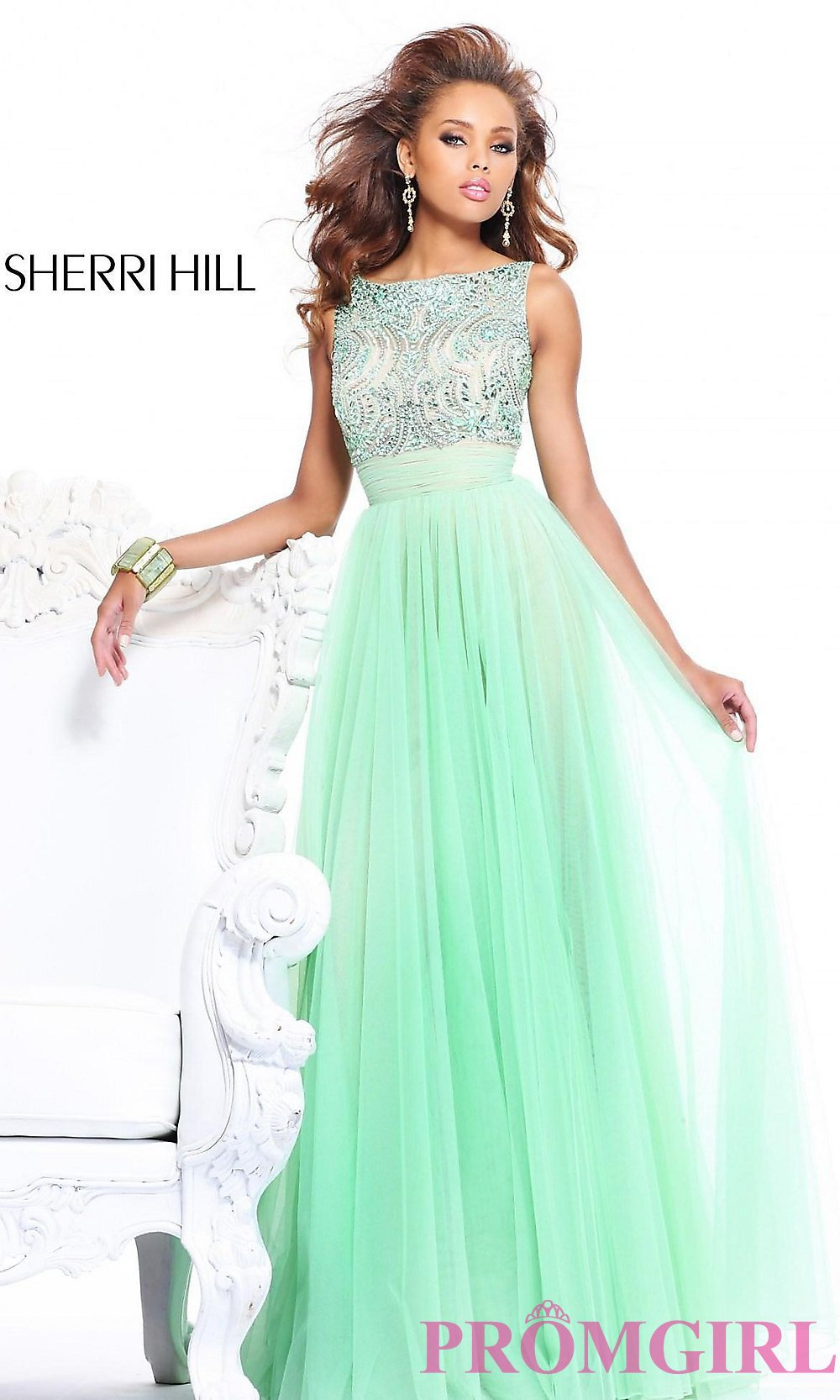 High Neck Evening Gown with Open Back by Sherri Hill 11022
