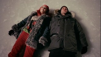 coat fur jeans eternal sunshine of the spotless mind