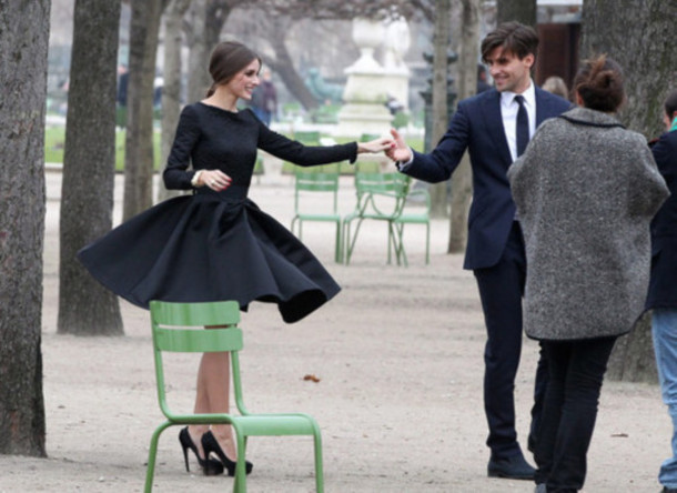 black dress long sleeved dress