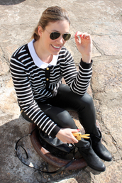clothes,blogger,stripes,sweater