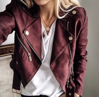 jacket bordeaux red wine red leather jacket leather