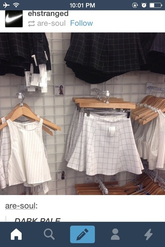 shirt crop tops grid tumblr geometric cute aesthetic