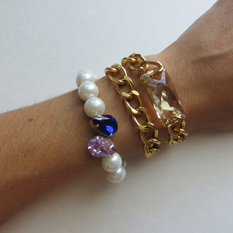 stacked jewelry jewels stacked bracelets chain jewelry crystal bracelet gold bracelets trendy jewelry wrap bracelet space cut stone swarovski crystal